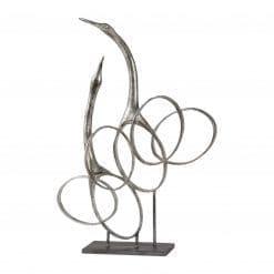 Uttermost Admiration Silver Bird Sculpture