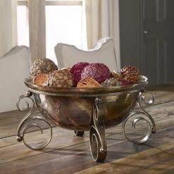 Uttermost Alya Bronze Glass Bowl
