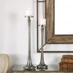 Uttermost Aliso Cast Iron Candleholders Set/2