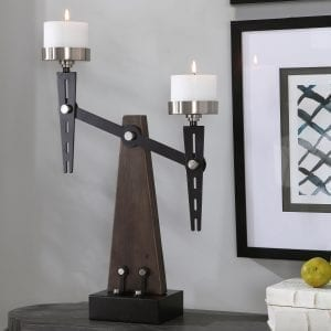 Uttermost Cardiff Industrial Candleholder