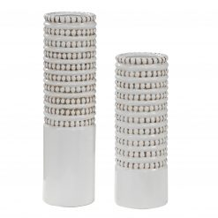 Uttermost Angelou White Vases, Set/2