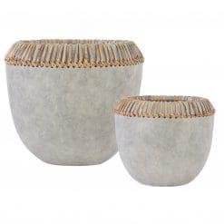 Uttermost Aponi Concrete Ray Bowls, S/2