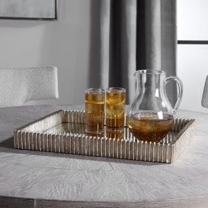 Uttermost Talmage Silver Mirrored Tray