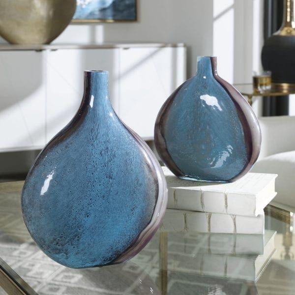 Uttermost Adrie Art Glass Vases, S/2
