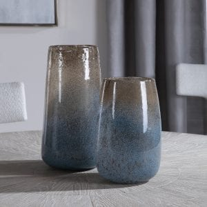 Uttermost Ione Seeded Glass Vases, S/2