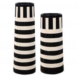 Uttermost Amhara Black & White Vases, S/2