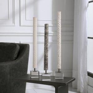 Uttermost Makira Cylindrical Sculptures, S/3