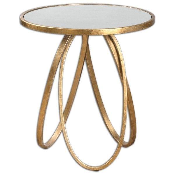 Uttermost Montrez Gold Side Table