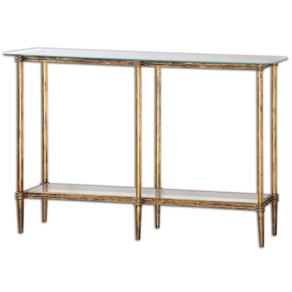 Uttermost Elenio Glass Console Table