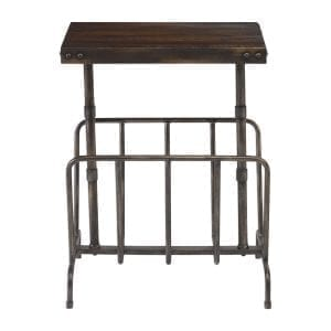 Uttermost Sonora Industrial Magazine Accent Table