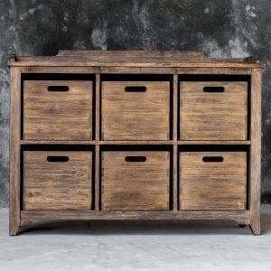 Uttermost Ardusin Driftwood Hobby Cupboard