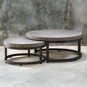 Uttermost Aiyara Gray Nesting Tables, S/2