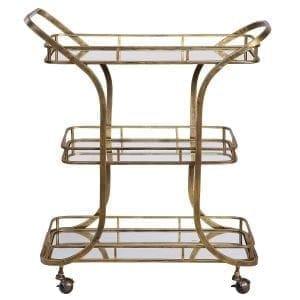 Uttermost Stassi Gold Serving Cart
