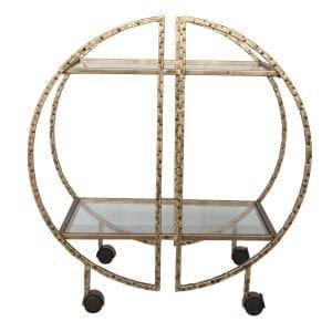 Uttermost Zelina Gold Bar Cart