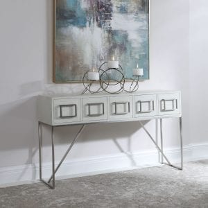 Uttermost Abaya White Console Table