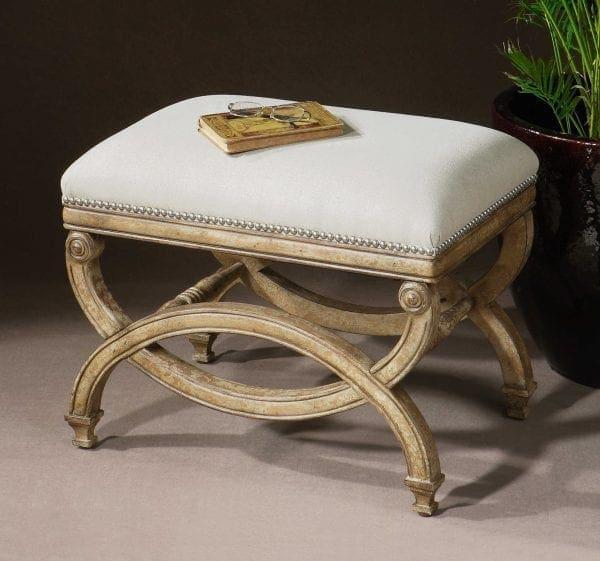 Uttermost Karline Natural Linen Small Bench