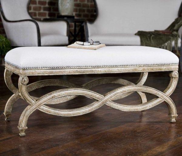 Uttermost Karline Natural Linen Bench