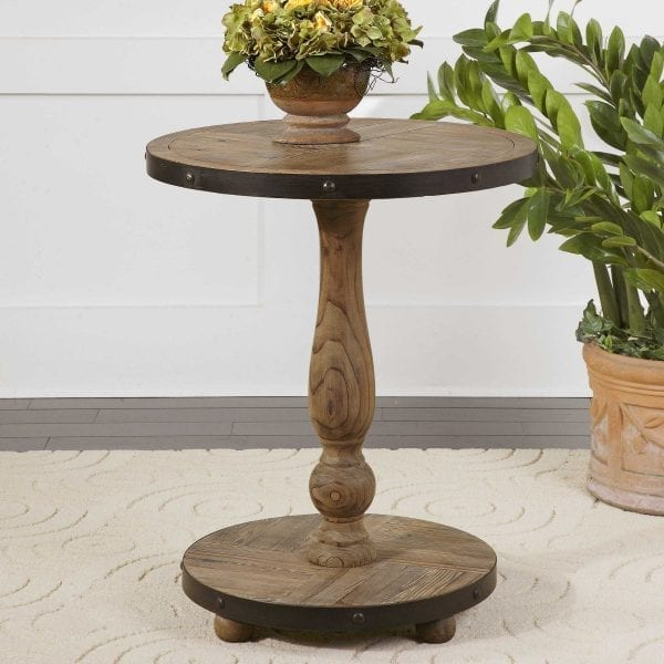 Uttermost Kumberlin Wooden Round Table
