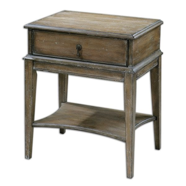 Uttermost Hanford Weathered Side Table
