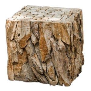 Uttermost Teak Root Bunching Cube