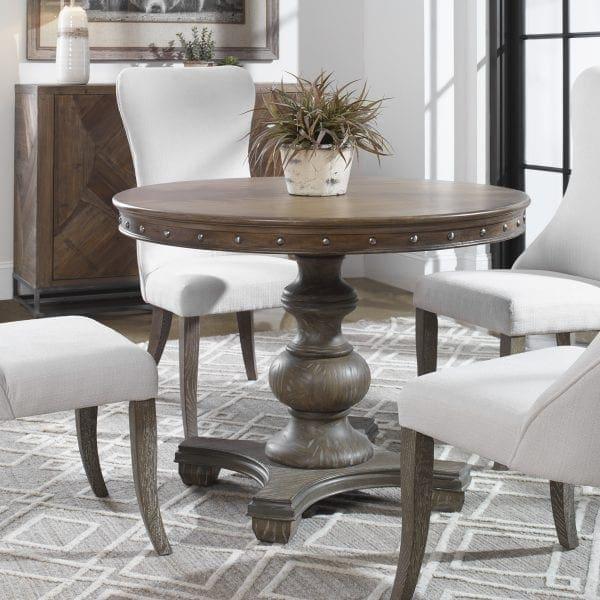 Uttermost Sylvana Wood Round Table