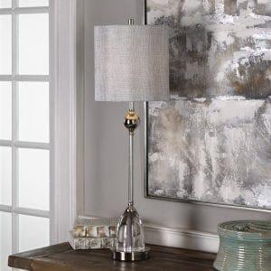 Uttermost Gallo Nickel Buffet Lamp