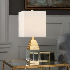 Uttermost Anubis Crystal Cube Lamp