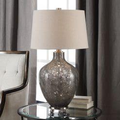 Uttermost Adria Transparent Gray Glass Lamp