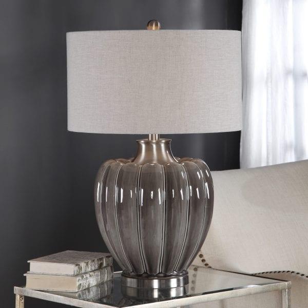 Uttermost Adler Smoky Gray Table Lamp
