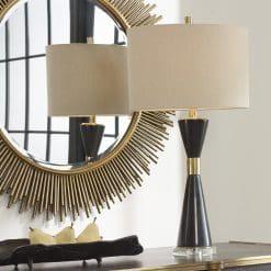 Uttermost Alastair Black Marble Table Lamp