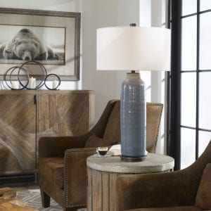 Uttermost Vicente Slate Blue Table Lamp