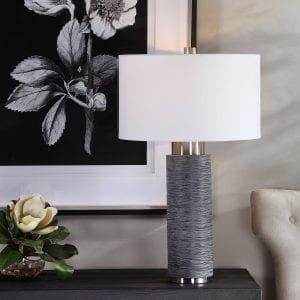 Uttermost Strathmore Stone Gray Table Lamp