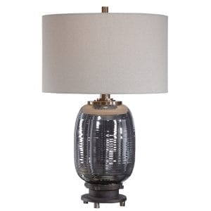 Uttermost Caswell Amber Glass Table Lamp