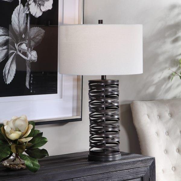 Uttermost Alita Rust Black Table Lamp
