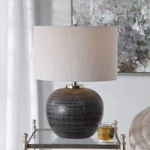 Uttermost Mikkel Charcoal Table Lamp