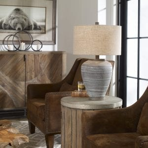 Uttermost Pelia Light Aqua Table Lamp