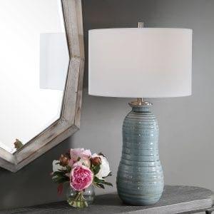 Uttermost Zaila Light Blue Table Lamp