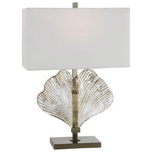 Uttermost Anara Glass Leaf Table Lamp