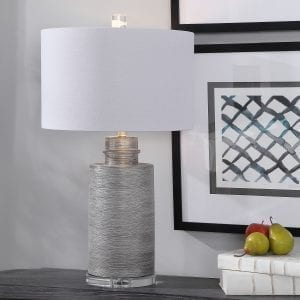 Uttermost Anitra Metallic Silver Table Lamp