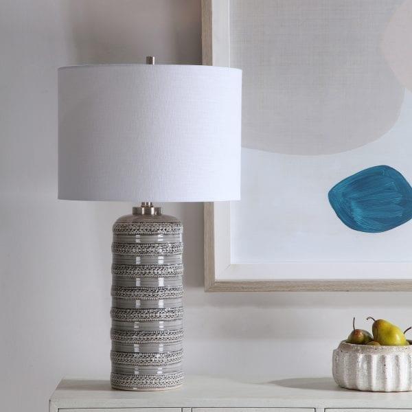Uttermost Alenon Light Gray Table Lamp
