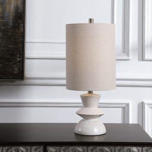 Uttermost Stevens Bleached Wood Buffet Lamp