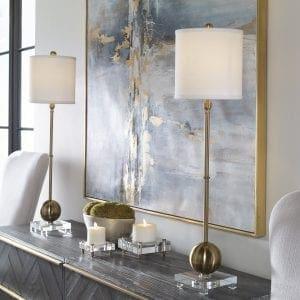 Uttermost Laton Brass Buffet Lamp