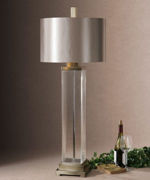 Uttermost Drustan Clear Glass Table Lamp