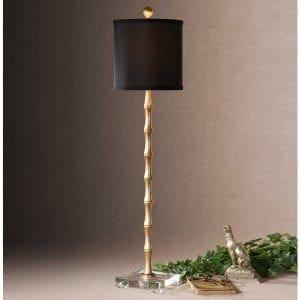 Uttermost Quindici Metal Bamboo Buffet Lamp