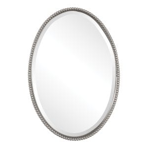 Uttermost Sherise Brushed Nickel Oval Mirror