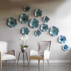 Uttermost Abella Ceramic Flowers, S/3