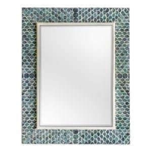 Uttermost Makaria Coastal Blue Mirror