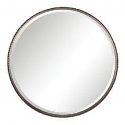 Uttermost Ada Round Steel Mirror