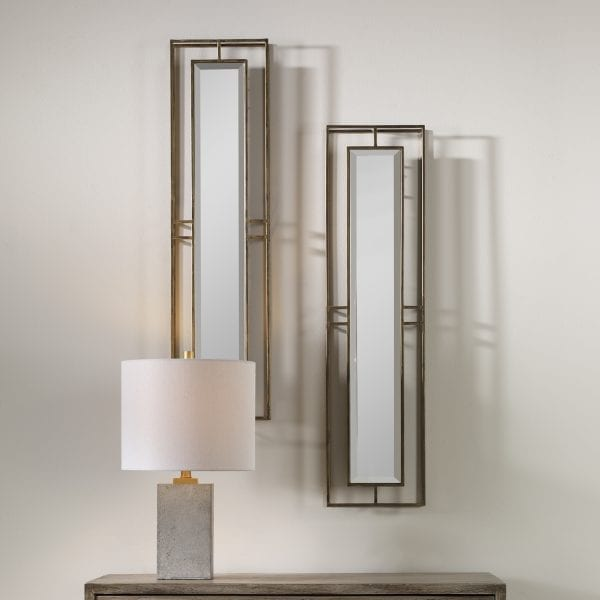 Uttermost Rutledge Gold Mirrors, S/2