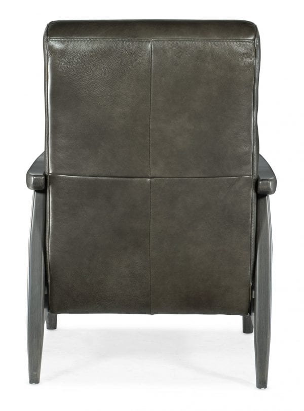 Marlin Pushback Recliner with Exposed Wood Arm